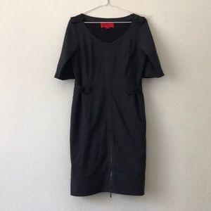 Z Spoke Zac Posen virgin wool lined zipper dress